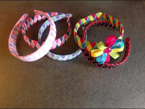 How To Make A Diamond Style Woven Headband Out Of Ribbon Youtube