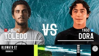 Filipe Toledo vs. Yago Dora - Round Three, Heat 10 - Uluwatu CT 2018