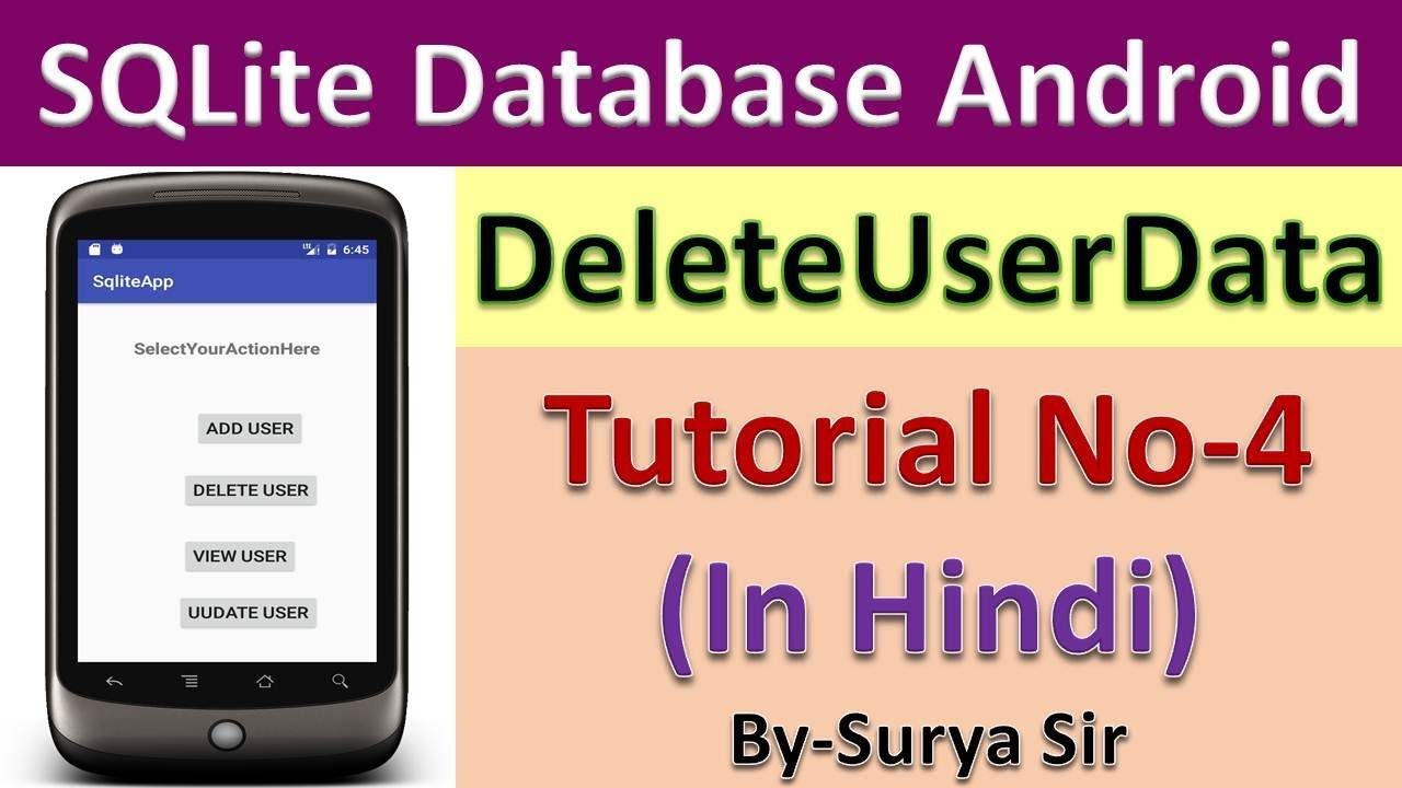 Android sqlite database tutorial no 4in hindi youtube android sqlite database tutorial no 4in hindi gamestrikefo Choice Image