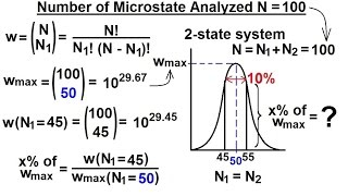 Physics 32.5 Statistical Thermodynamics (11 Of 39) Number Of Microstates Analyzed N=100