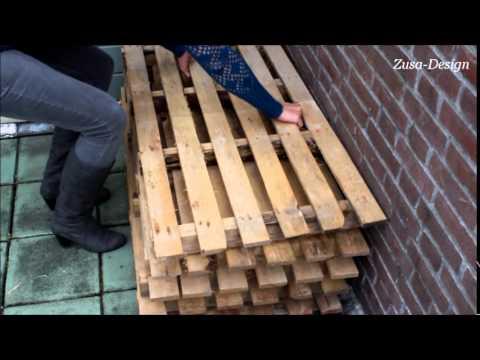 Welp ZUSA-DESIGN | Maak je eigen tuinbank met pallets! - YouTube HW-37