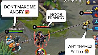 [MYTHIC RANKED] APOCALYPSE FRANCO FULL GAMEPLAY | WOLF XOTIC | MOBILE LEGENDS