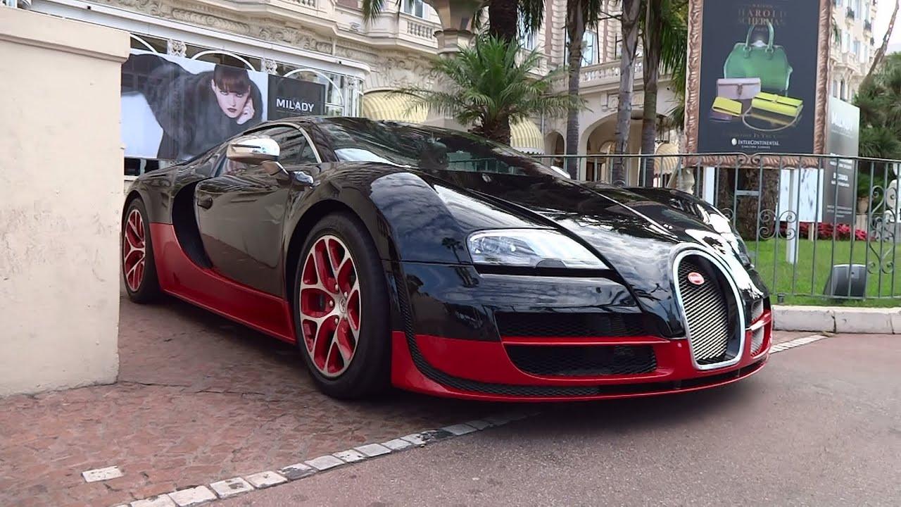 Black and red bugatti veyron