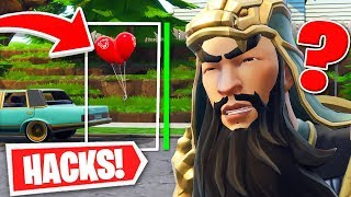 I MAKE INVISIBLE WITH A BUG AND TROLLEO TO CHILD WITH HACKS IN FORTNITE - Roier