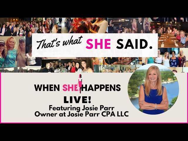 That's What She Said - featuring Josie Parr