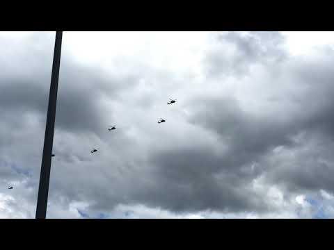 Blackhawk Helicopters over Casper!
