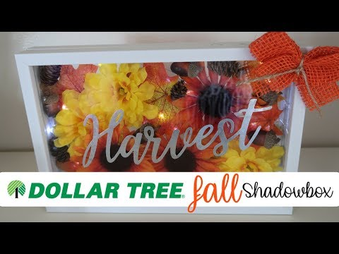 DIY DOLLAR TREE FALL DECOR | DOLLAR TREE SHADOWBOX | UNDER $10 | BUDGET FRIENDLY