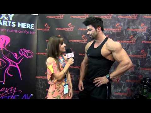 Sergi Constance FIBO 2013  Muscular development interview/entrevista