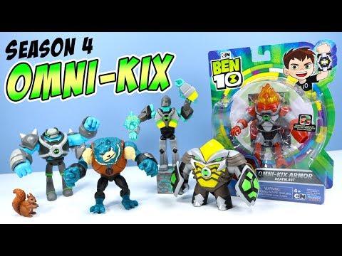 Ben 10 Reboot Omni-Kix Armor Action Figures Season 4 Toy Review