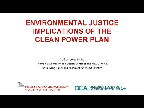 Environmental Justice Implications of U.S. EPA's Clean Power Plan | The New School