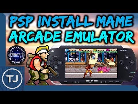PSP MAME Arcade Emulator Install & Setup! - YouTube