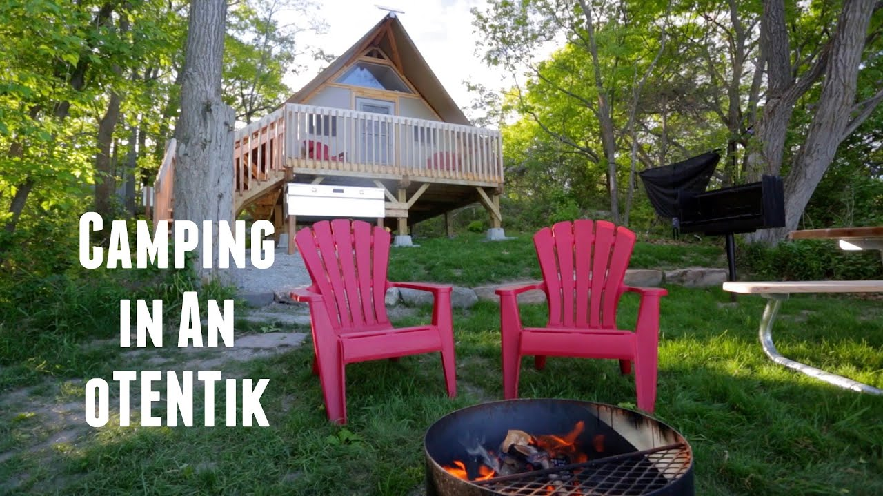 camping in an otentik at thousand islands national park youtube