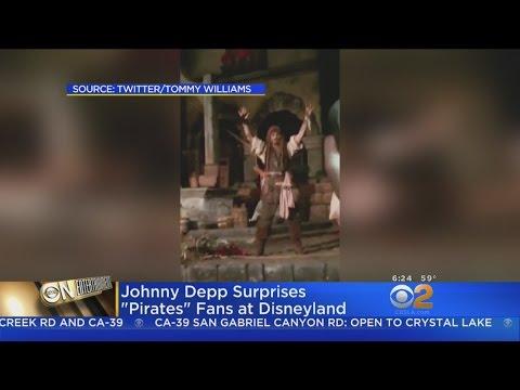 Johnny Depp Crashes 'Pirates Of The Caribbean' Ride At Disneyland