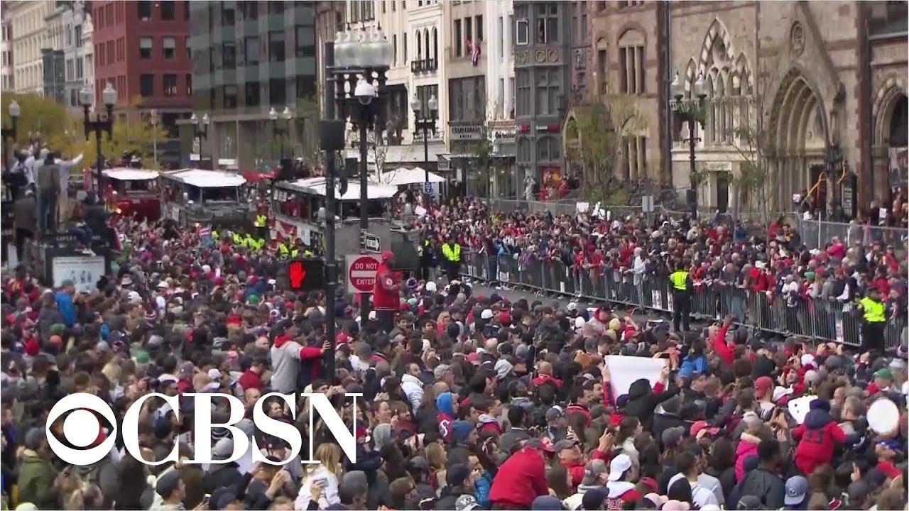 09547e0fa5cb69 Video shows Boston Red Sox 2018 World Series victory parade - YouTube