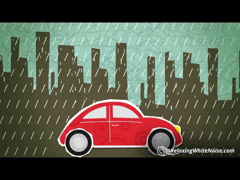 Relaxing Rain on Car Sounds | Sleep, Study, Soothe a Baby |