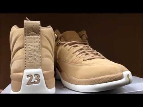 4d3737848574 First Look) Air Jordan 12 Vachetta Tan Womens Exclusive - YouTube