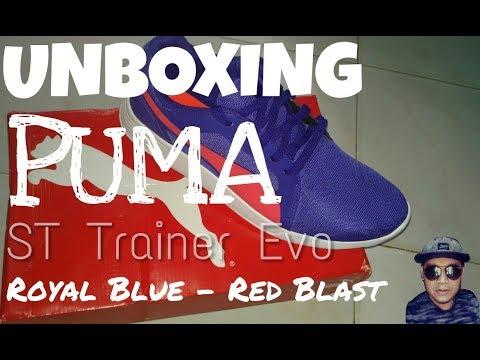 PUMA ST Trainer Evo Royal Blue Red Blast - UNBOXING - YouTube 5eff58b9a