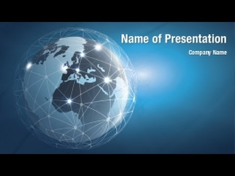 global networks powerpoint video template backgrounds, Presentation templates