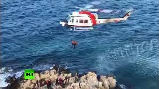 Saved at sea: More than 100 migrants rescued in Mediterranean waters