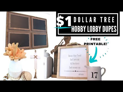 4 DOLLAR TREE DIY FARMHOUSE Decor Ideas That Look HIGH END Inspired By HOBBY LOBBY | THE WEEKS NEST