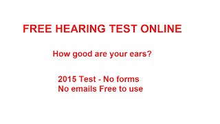 HEARING TEST: - Test Your Hearing Free