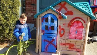 Wash your Playhouse for Kids - Learn and Play With Toys
