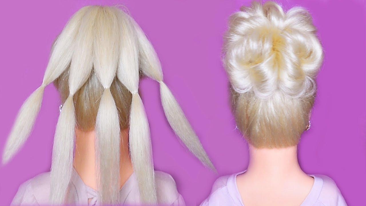Простая и Быстрая прическа. Красивые Прически пошагово. Simple and beautiful Hairstyle.