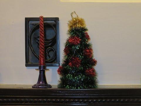 как сделать самому поделку новогоднюю елку  своими руками быстро и просто фото вариант 2