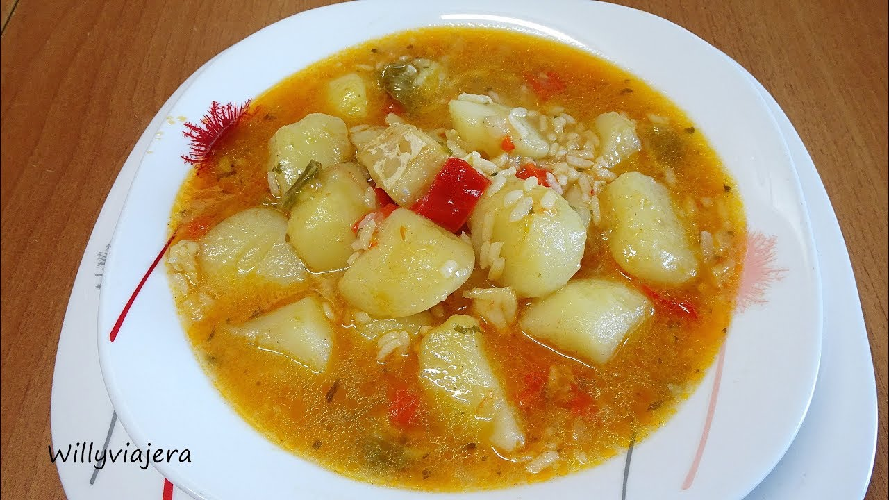 Patatas con bacalao y arroz olla expr s youtube - Bacalao con garbanzos y patatas ...