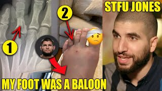 Khabib REVEALS X-ray of broken foot, Jon Jon schooled by Ariel Helwani, Conor McGregor
