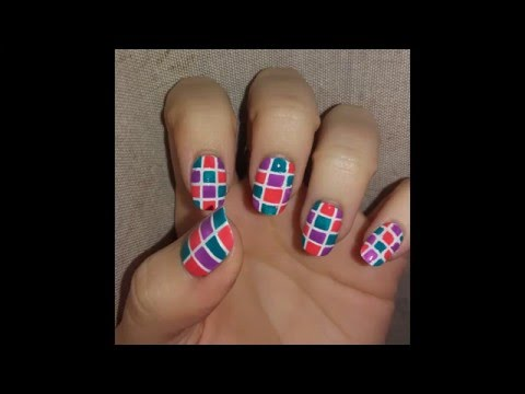 Nail Art - Square Nail Design - Nail Art - Square Nail Design - YouTube