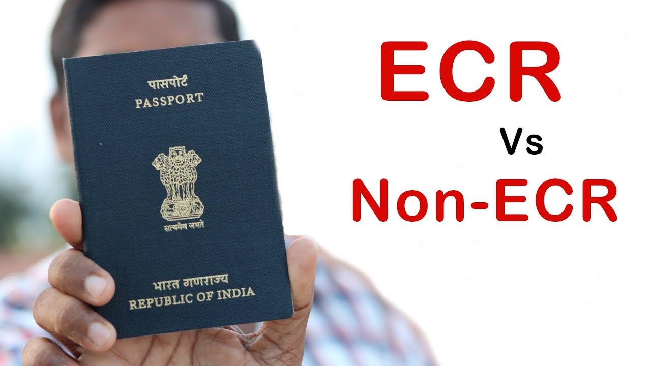 ECR vs Non ECR in Indian Passport   Complete Guide   Help in Tamil - YouTube