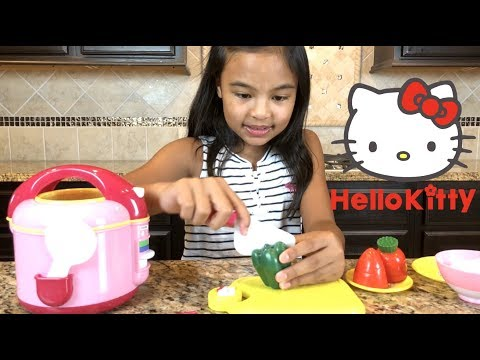 Hello Kitty Rice Cooker Set Kitchen Play Set Pretend Play | Toys Academy