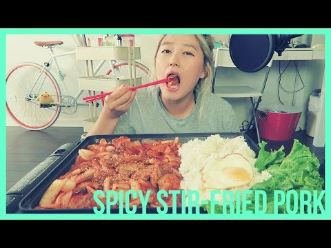 ''SPICY STIR-FRIED PORK'' [제육볶음]Mukbang | KEEMI