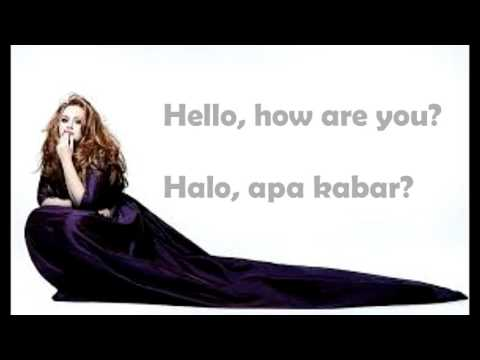 ADELE - Hello Lyrics (Eglish + Indonesia Lirik)