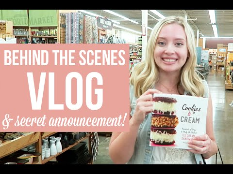 Behind-the-Scenes VLOG & A Secret ANNOUNCEMENT :)