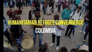 Thousands of Colombian activists participate in Humanitarian Refugee Convergence, From YouTubeVideos