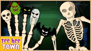 Finger Family Halloween Song Part 2 | Halloween Songs for Kids | Scary Songs | By Teehee Town