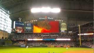 Houston Astros Season Opener 2013 Team Mascot Orbit