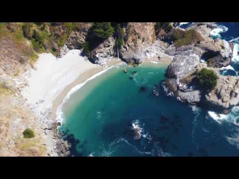 MCWAY FALLS - BIG SUR, CALIFORNIA, USA - BY DRONE