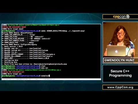 "CppCon 2015: Gwendolyn Hunt ""Secure C++ Programming"""