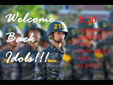 WELCOME BACK IDOLS!!! | 2020 MILITARY RELEASE DATE | K-POP IDOLS AND ACTORS from YouTube · Duration:  7 minutes 12 seconds