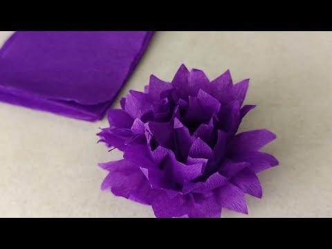 paper flower making 2 minutes/crape paper