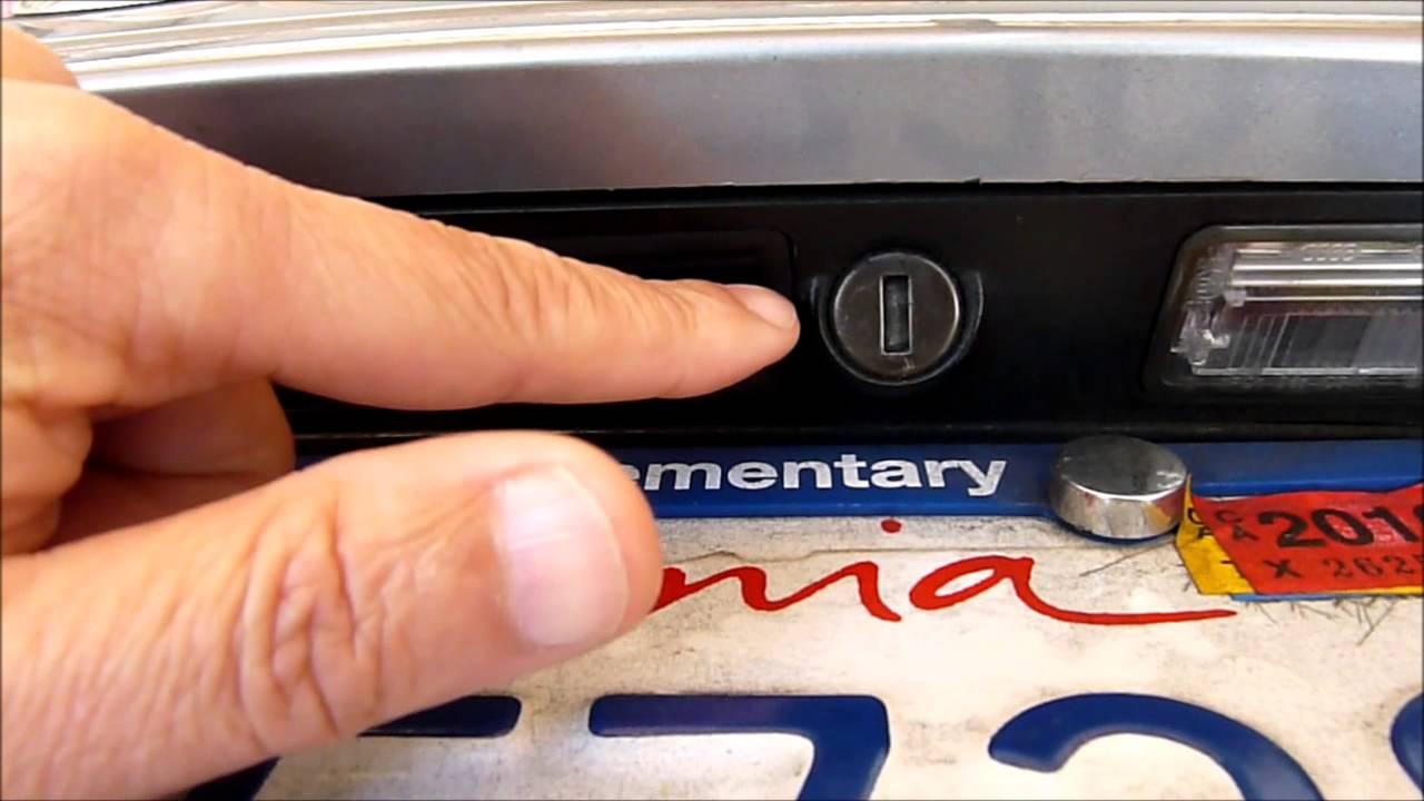 audi a8 d3 trunk door button doesn't work trunk lock in valet mode