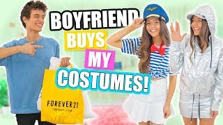 BOYFRIEND BUYS GIRLFRIENDS HALLOWEEN COSTUMES! Shopping Challenge 2017!