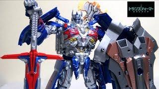【トランスフォーマー 最後の騎士王】TLK-15 キャリバーオプティマスプライム 初回限定版 ヲタファの変形レビュー / TakaraTomy Caliber Optimus Prime thumbnail