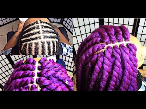 #170. PERFECT MIDDLE PART PATTERN ... LILAC GODDESS TWIST