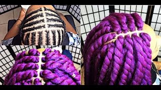 170 perfect middle part pattern lilac goddess twist