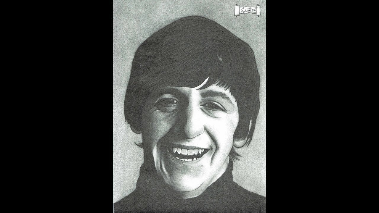 Ringo Starr The Beatles A Dredfunn Mechanical Pencil Portrait