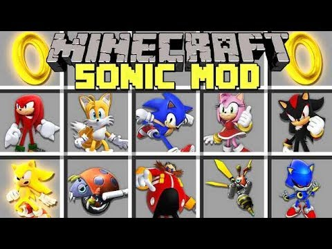 Minecraft SONIC MOD L BECOME SONIC, SHADOW, TAILS, KNUCKLES! L Modded Mini-Game